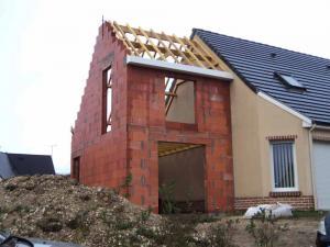 Extension traditionnelle d'une maison en Picardie - Après
