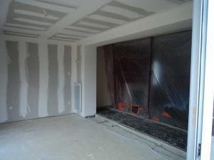 Extension traditionnelle d'une maison en Picardie - Protection durant chantier