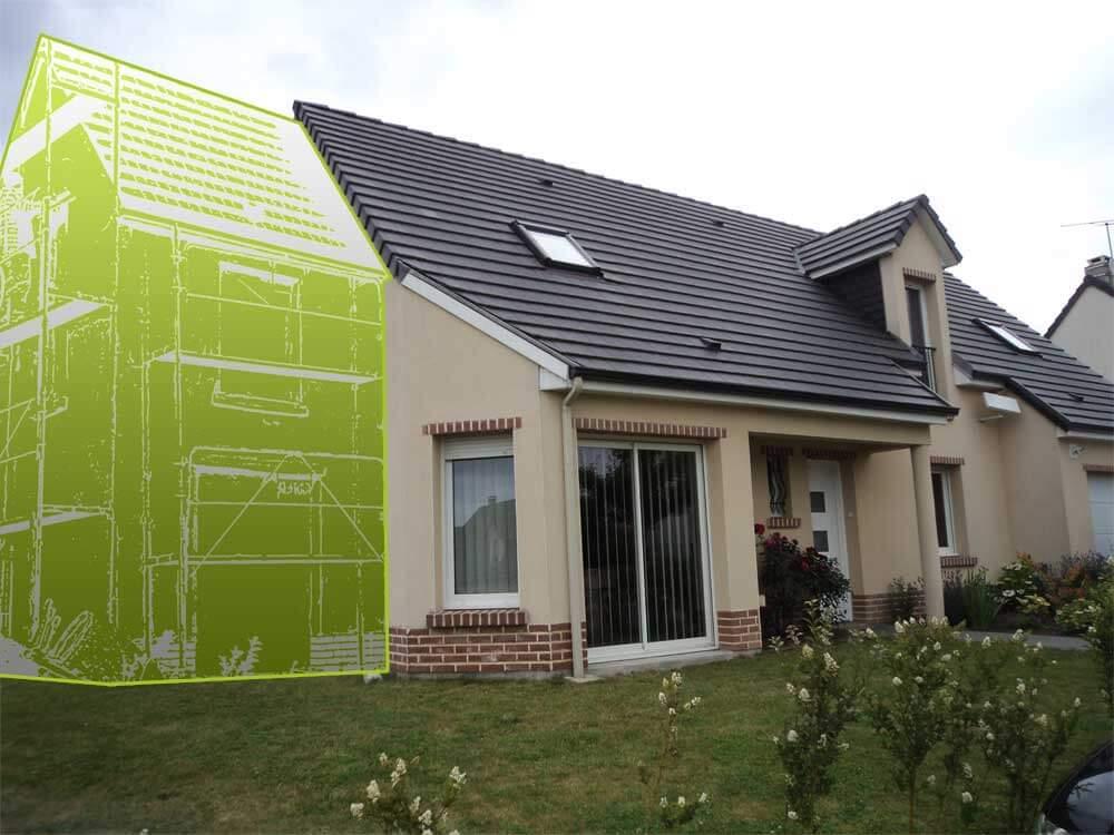Projet d'extension de maison après étude