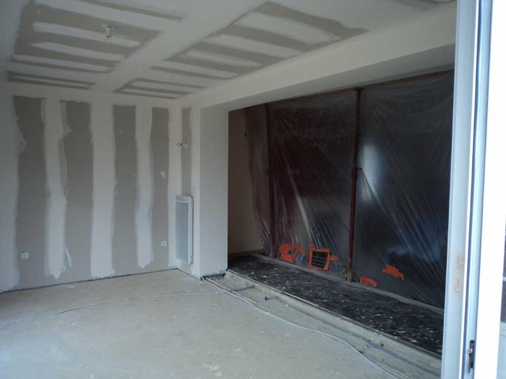 Protection de l'extension de la maison durant les travaux