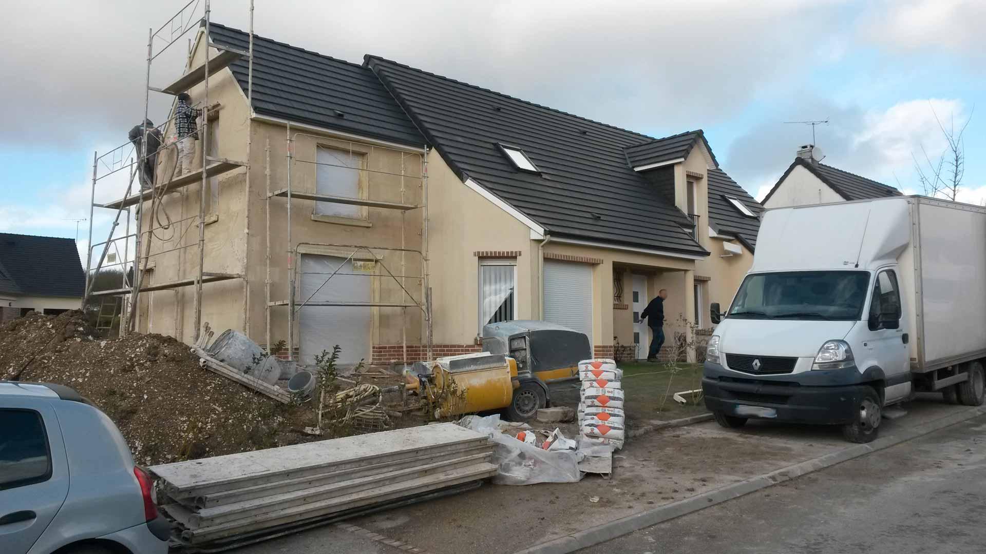 Réalisation finale de l'extension de la maison en Picardie