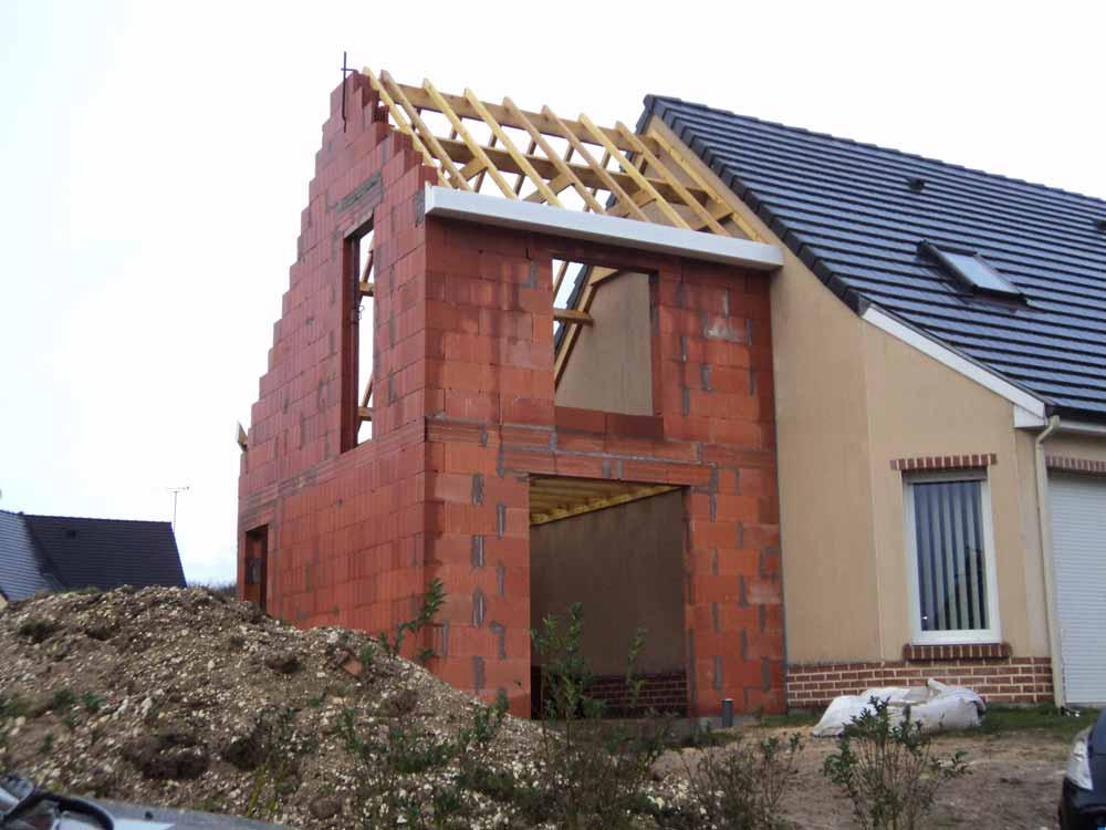 Travaux d'agrandissement de la maison en Picardie