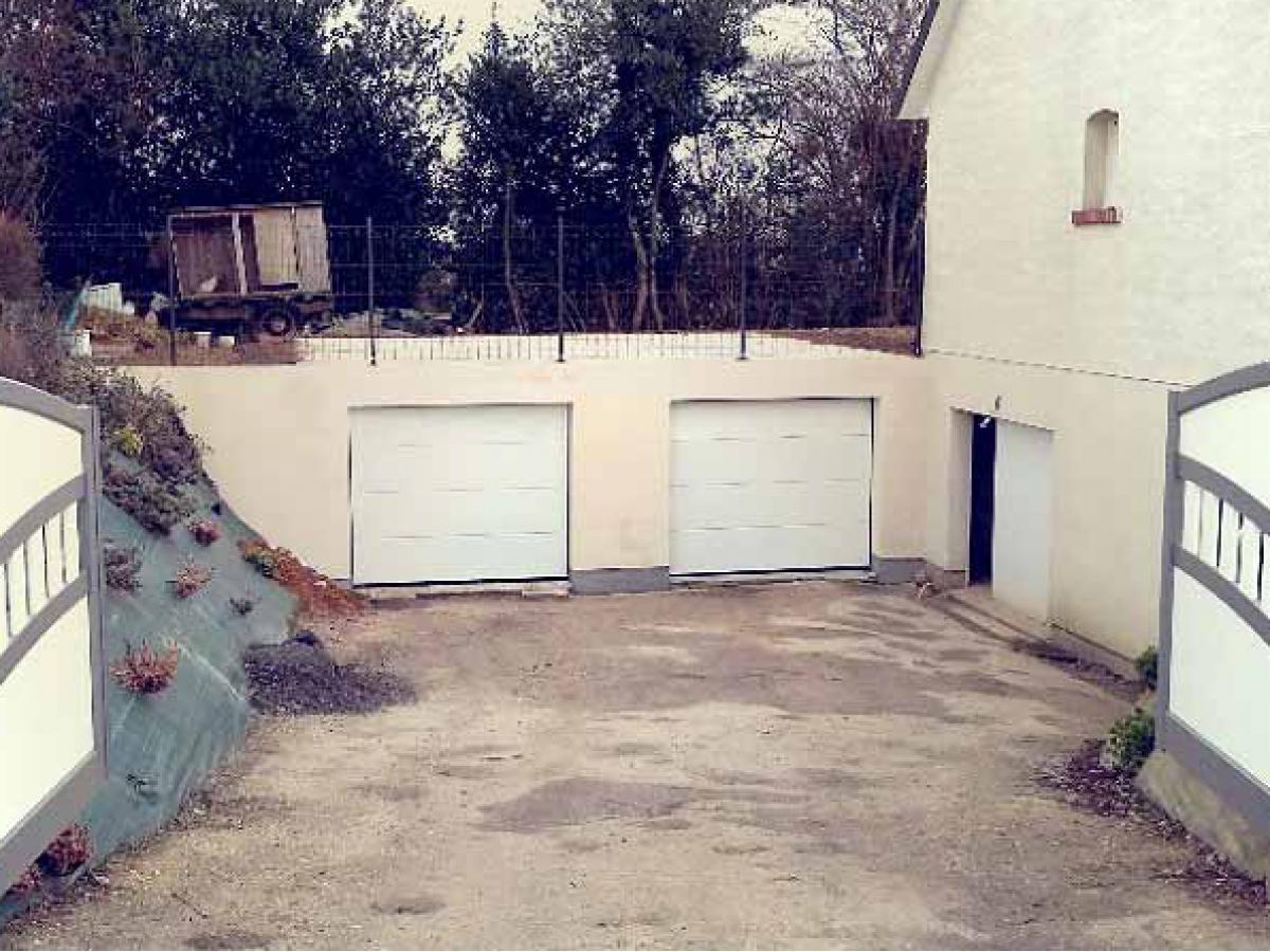 Création d'un double garage enterré