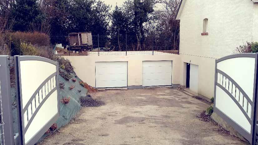 Création double garage enterré