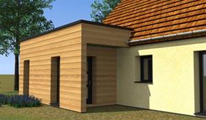 Avant-projet d'extension à toit plat
