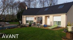 Extension d'une maison plain-pied - Avant