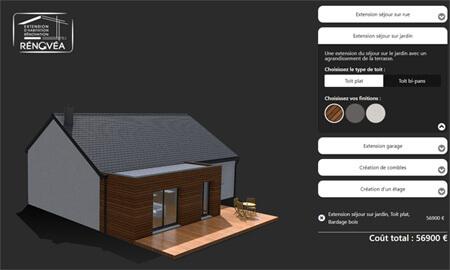 Simulateur extension maison par Rénovéa