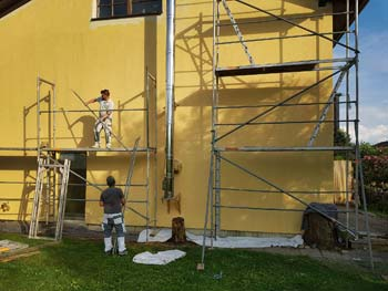 Peinture en façade de maison