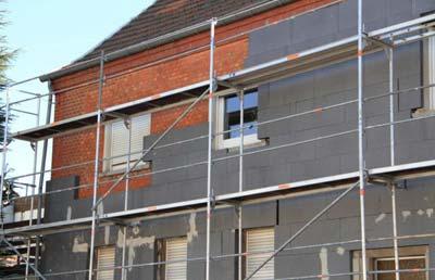 Rénovation isolation des murs extérieurs de maison